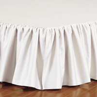 FRESCO CLASSIC IVORY RUFFLED BED SKIRT