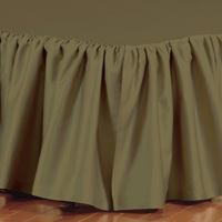FRESCO CLASSIC OLIVA RUFFLED BED SKIRT