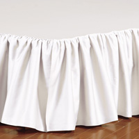 FRESCO CLASSIC WHITE RUFFLED BED SKIRT