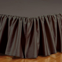 FRESCO CLASSIC WALNUT RUFFLED BED SKIRT