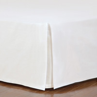 FRESCO CLASSIC WHITE STRAIGHT BED SKIRT