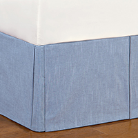 Duvall Denim Bed Skirt