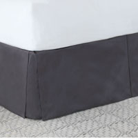 Edris Charcoal Bed Skirt