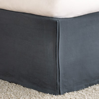 Shiloh Charcoal Pleated Bed Skirt