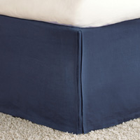 Shiloh Indigo Pleated Bed Skirt