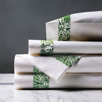 Adelle Percale Sheet Set in Grass
