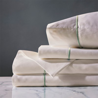 Linea Sheet Set In Ivory & Aloe