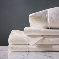 Linea Sheet Set In Ivory & Ecru