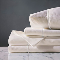 LINEA IVORY/WHITE SHEET SET