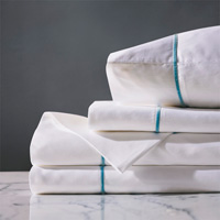 LINEA WHITE/AZURE SHEET SET