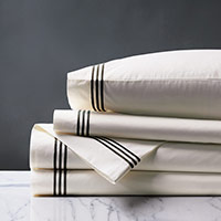 TESSA IVORY/BLACK SHEET SET