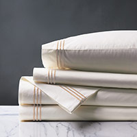TESSA IVORY/BLUSH SHEET SET