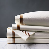 TESSA IVORY/BROWN SHEET SET