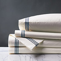 TESSA IVORY/NAVY SHEET SET