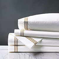 TESSA WHITE/ANTIQUE SHEET SET