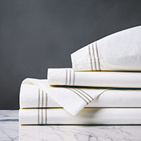TESSA WHITE/CREME SHEET SET