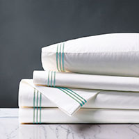 TESSA WHITE/LAKE SHEET SET