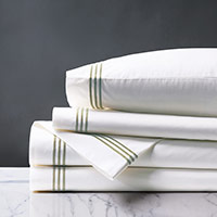 TESSA WHITE/PEAR SHEET SET