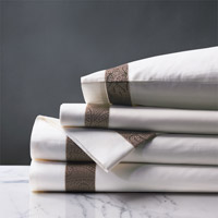 Cornice White/Truffle Sheet Set