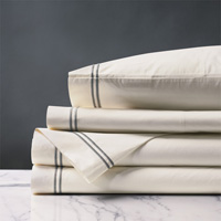 ENZO IVORY/DOVE FULL SHEET SET