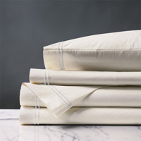 ENZO IVORY/WHITE TWIN SHEET SET