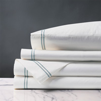 ENZO WHITE/LAKE SHEET SET