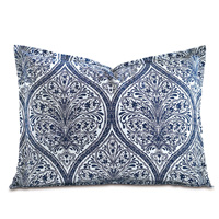 Adelle Percale Standard Sham in Marine