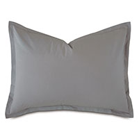 Vail Percale Standard Sham in Heather