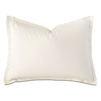 Vail Percale Standard Sham in Ivory