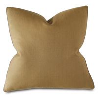 Castle Linen Decorative Pillow in Gold
