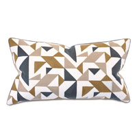 WELLFLEET EMBROIDERED DECORATIVE PILLOW