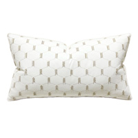 Filmore Embroidered King Sham in Ivory