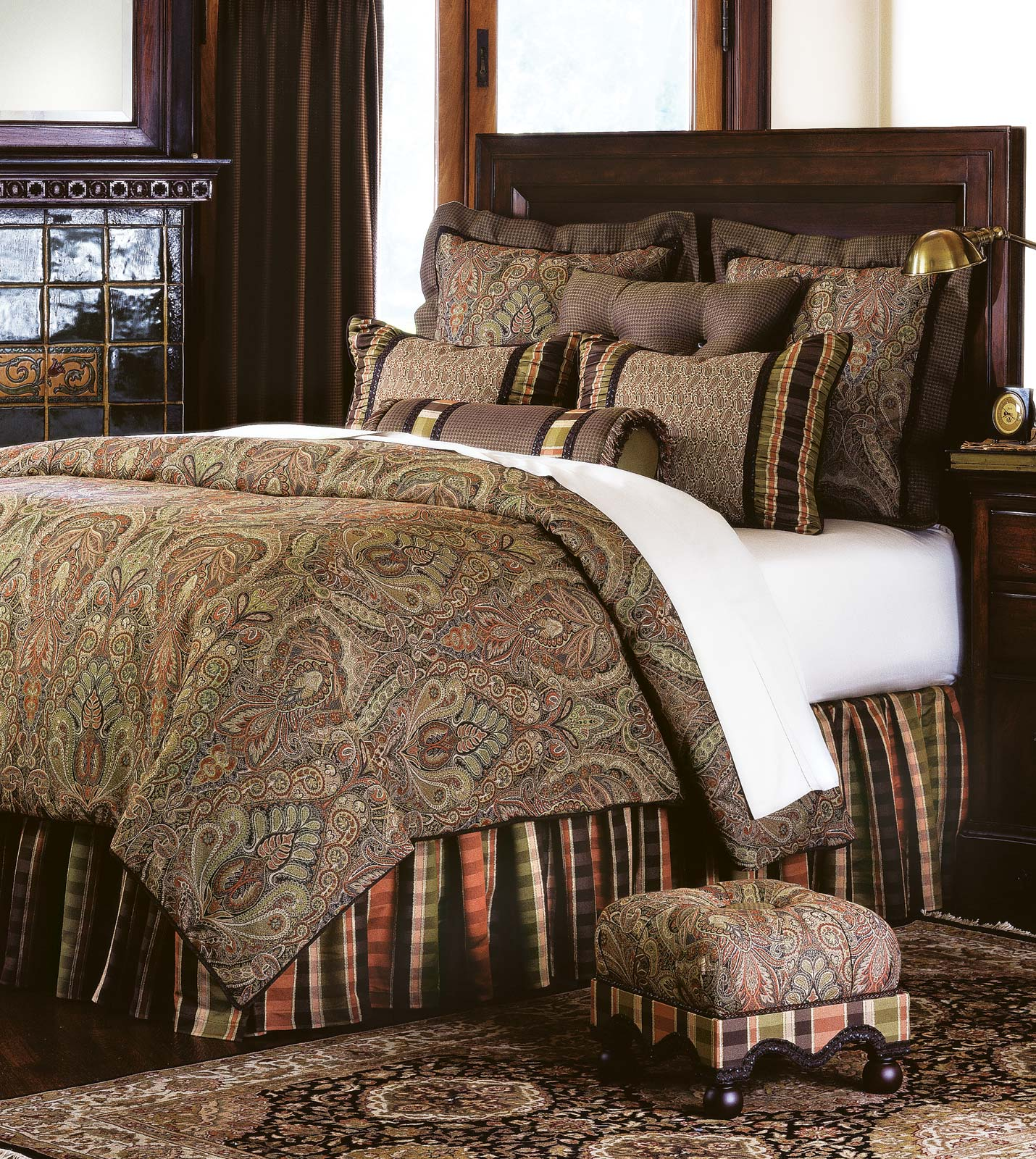Luxury bedding by eastern accents broderick collection for Designer bed pics