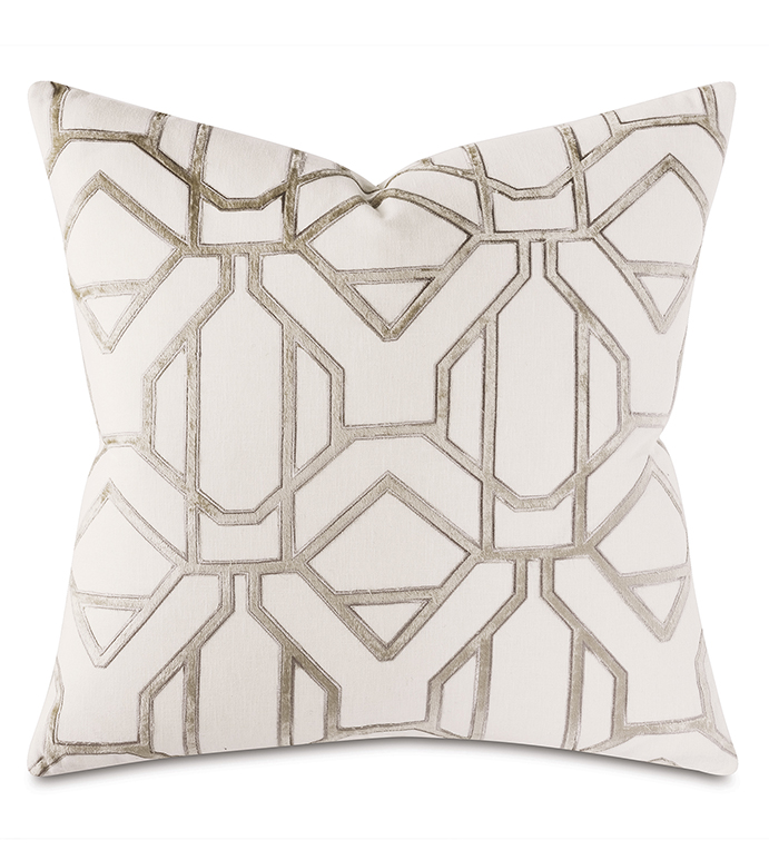 Buckle-Down Shapes Blue//White Throw Pillow