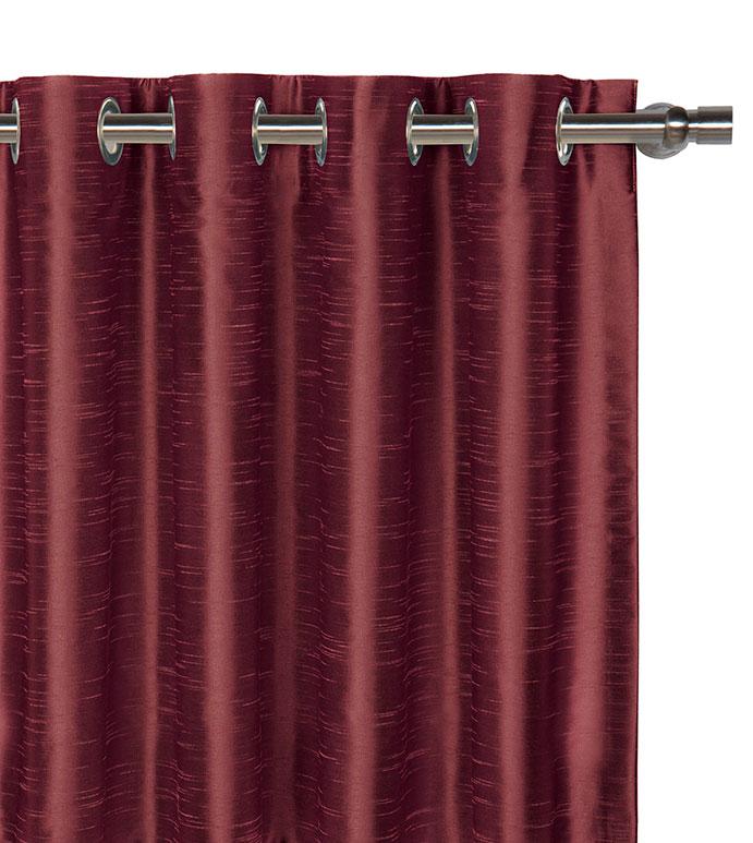 Edris Cranberry Curtain Panel