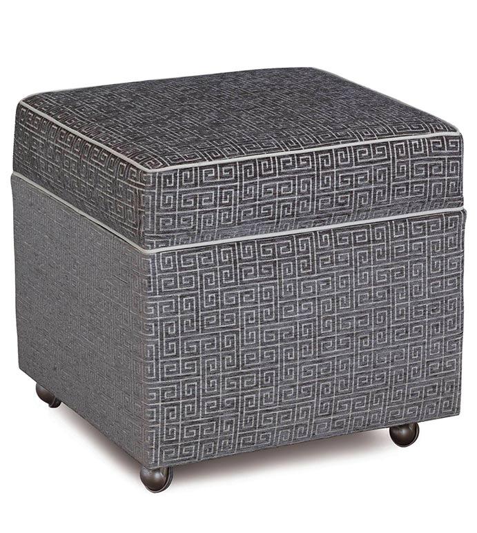 Marvelous Murano Taupe Storage Box Ottoman Dailytribune Chair Design For Home Dailytribuneorg