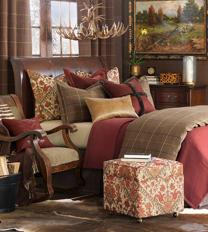 Luxury bedding by eastern accents chalet alpine home for Alpine decoration