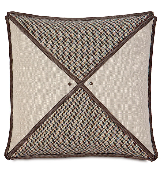 Woodside Oak triangle inserts - TAN STRIPED PILLOW,LODGE PILLOW,RUSTIC PILLOW,COUNTRY,MOUNTAIN,LODGE HOME,CLASSIC,TRADITIONAL,TAN,BROWN,IVORY,NEUTRAL,SOUTHWEST,NORTHWEST,RANCH HOME,DIAMOND,NAILHEAD ACCENT,TRIM