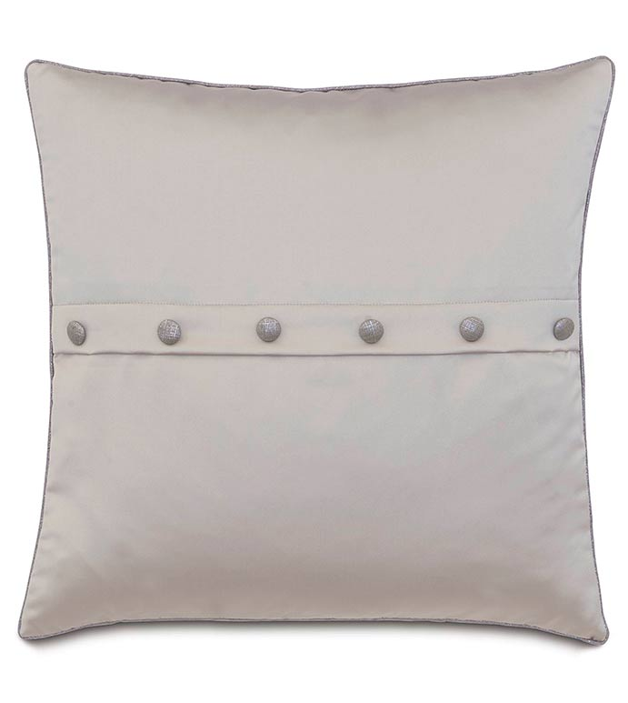 Daza Mink WITH buttons - SILVER,TAUPE,GREY,WELT,PILLOW,PATTERN,DESIGN,GLAM,MODERN,TRIM,ACCENT,METALLIC,BEDROOM,BED,LUXURY BEDDING,INTERIOR DESIGN,CLASSY,JEWEL,BUTTONS,SQUARE,ENVELOPE,ROW,STRIPE,SOLID