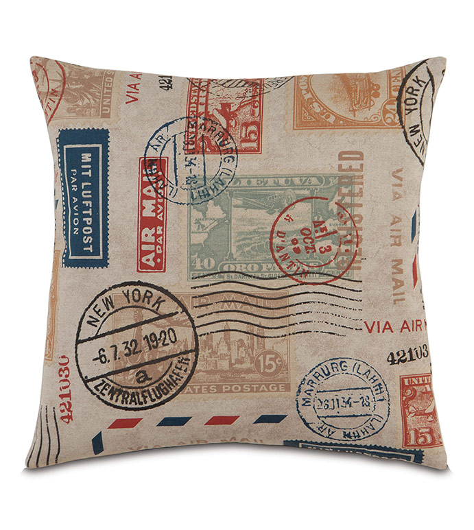 Decorative Pillows Travel Theme : Studio 773 Pillows by Eastern Accents - Passport Please
