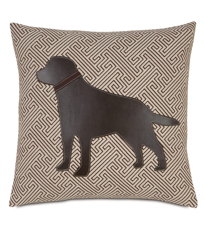 Chocolate Lab in Maze - LABRADOR PILLOW, LABRADOR HOME ACCENTS, CHOCOLATE LABRADOR