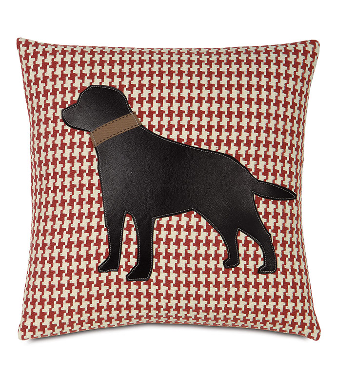 Black Lab on Bowline - , BLACK LAB, BLACK LAB PILLOW, BLACK LABRADOR PILLOW