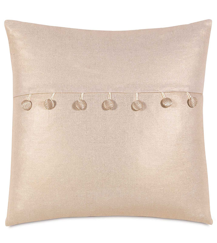 Reflection Gold Envelope - GLAM,SHINY,TAN,GLAMOUR,METALLIC,ELEGANT,OPULENT,FEMININE,GOLD,LUXURY,CHAMPAGNE,PILLOW,DECORATIVE,HOME DECOR,BEIGE,LUXURY BEDDING,TASSEL,SQUARE,TRIM,ACCENT,BALL TRIM,SQUARE,DESIGN