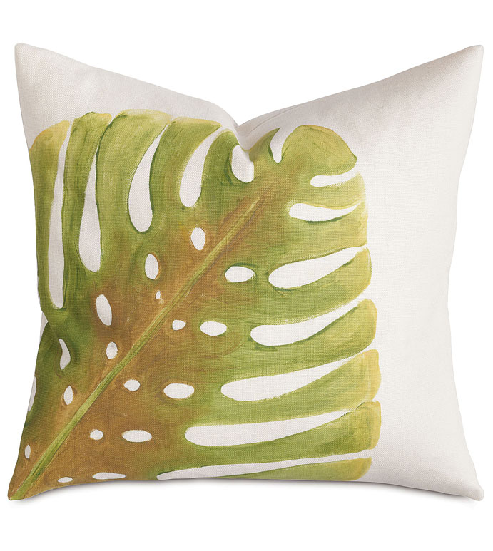 Philodendron Leaf Hand-Painted - ,