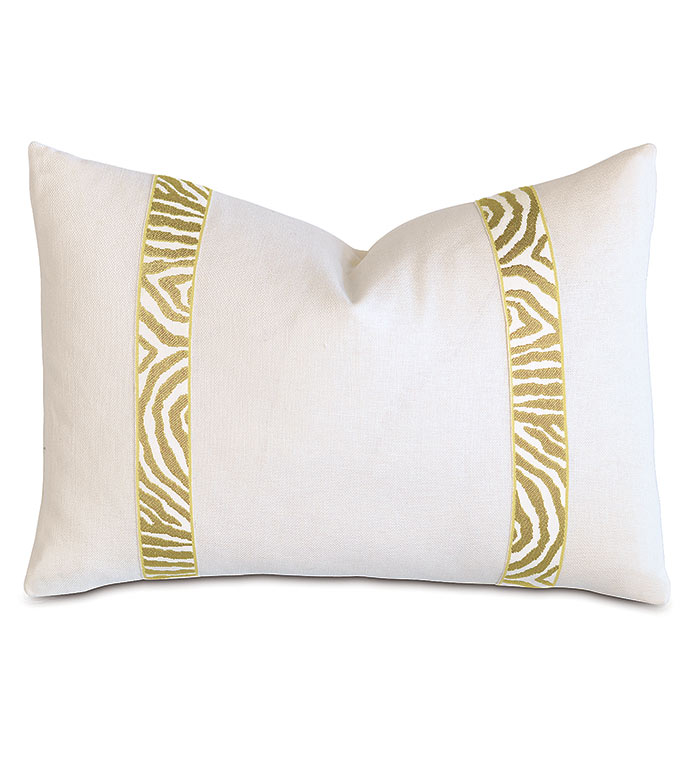 Filly White With Citron Border - ,