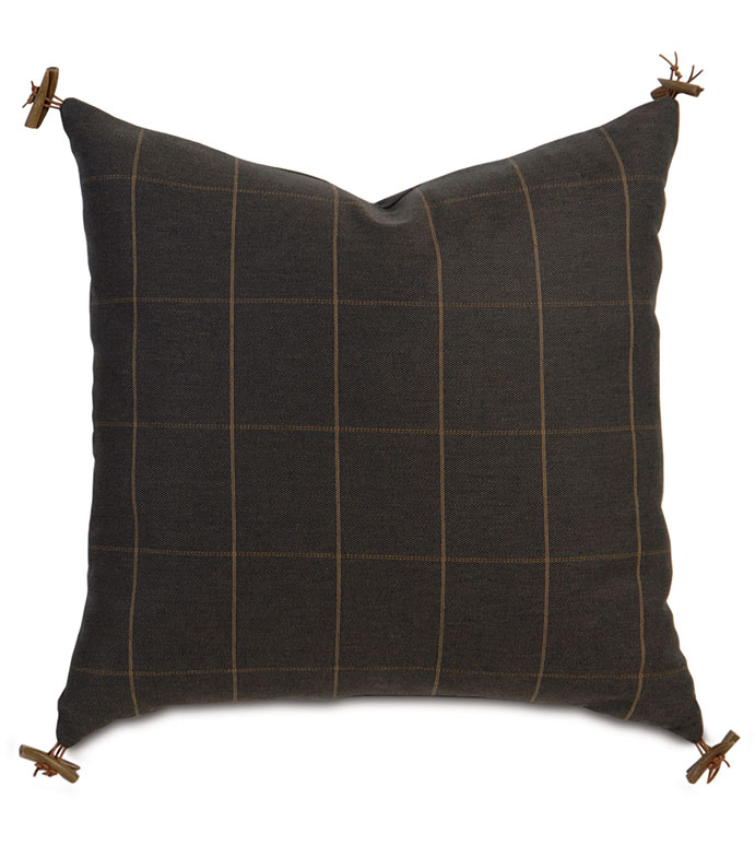 RUSTIC LODGE ACCENT PILLOW - ,