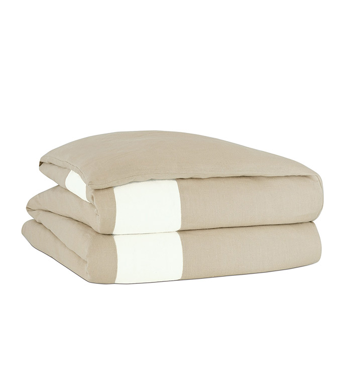Bisque/Shell Border Duvet Cover - ,