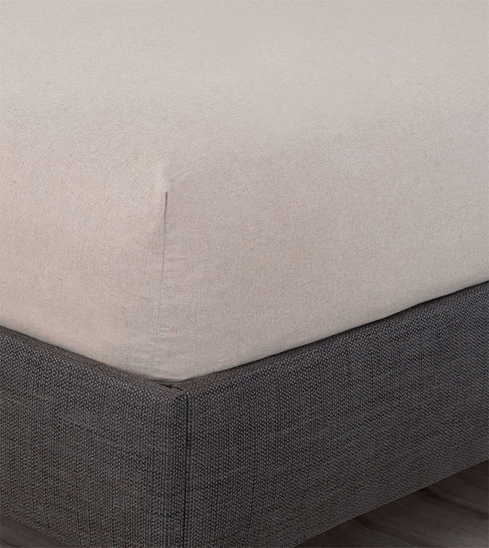 Summit Sand Fitted Sheet - LANDON