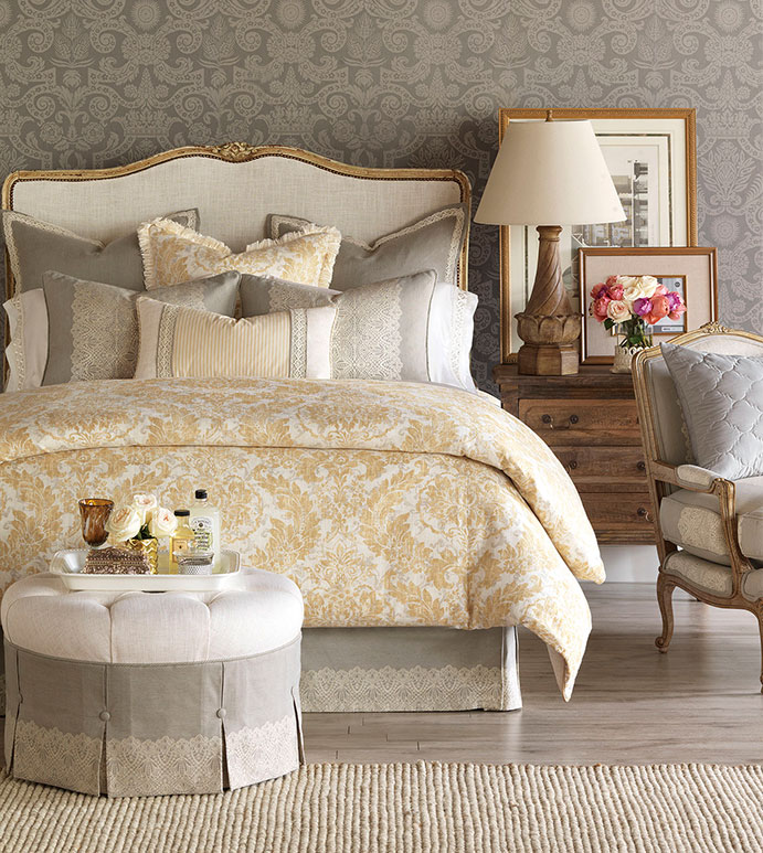 Sabelle Bedset - BEDDING,TOP OF BED,LUXURY LINENS,TRADTIONAL BEDDING,BEDSET,CUSTOM BEDDING,TAUPE BEDDING,LINEN BEDDING,HIGH END BEDDING,LUXURY BEDDING,EASTERN ACCENTS BEDDING,WHIMSICAL BEDDING