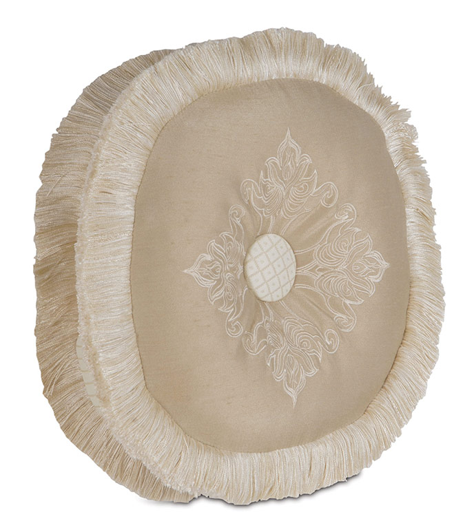 EMBROIDERED BROOKFIELD TAMBOURINE